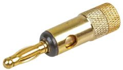 PRO SIGNAL PSG08684  4Mm Plug Gold/Black Short Body